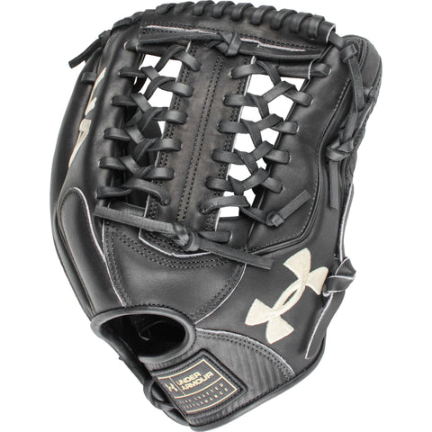 "Under Armour Flawless Series Black 11.75"" Infield Glove - Black - Baseball Gloves - Hit A Double - 1"