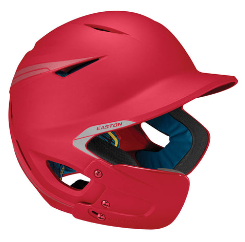 Easton Youth Pro X Matte Batting Helmetwith Jaw Guard - Red