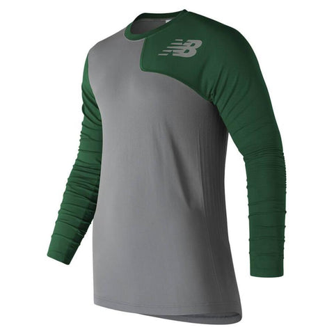 New Balance Seamless X4J Asymmetrical Shirt Left - Dark Green