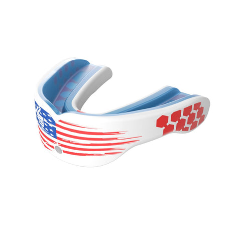 Shock Doctor 6900 Gel Max Power Mouthguard - White/Us Flag