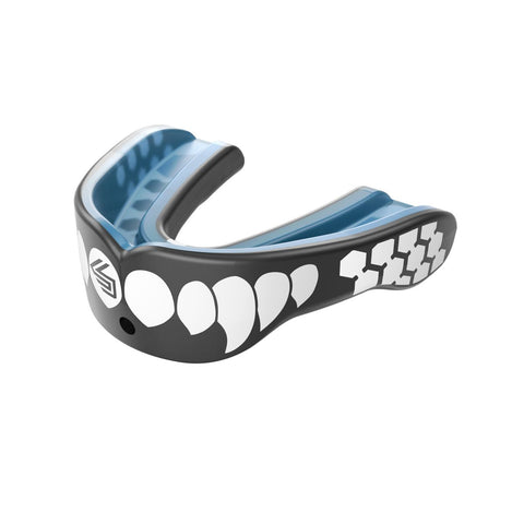Shock Doctor 6900 Gel Max Power Mouthguard - Carbon/White Fangs