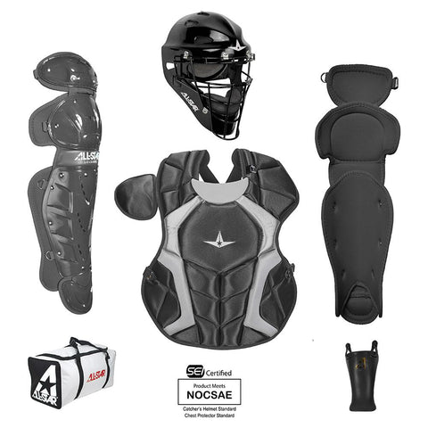 All-Star Player's Series Certified NOCSAE Catcher's Set (Ages 7-9) - Black