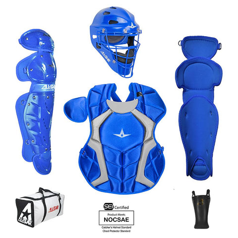 All-Star Player's Series Certified NOCSAE Catcher's Set (Ages 7-9) - Royal