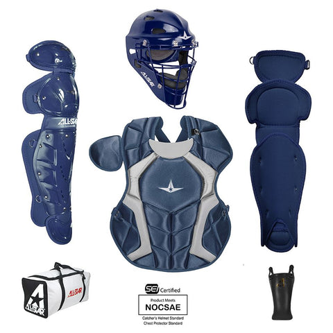All-Star Player's Series Certified NOCSAE Catcher's Set (Ages 9-12) - Navy