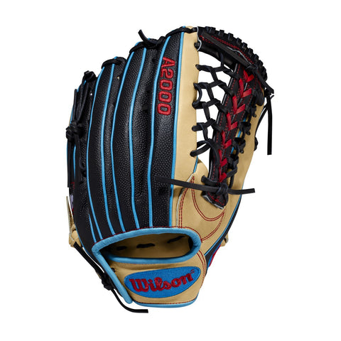 "Wilson 2020 A2000 PF92 12.25"" Pedroia Fit Outfield Glove - Black Cork - Baseball Glove - Hit A Double - 1"