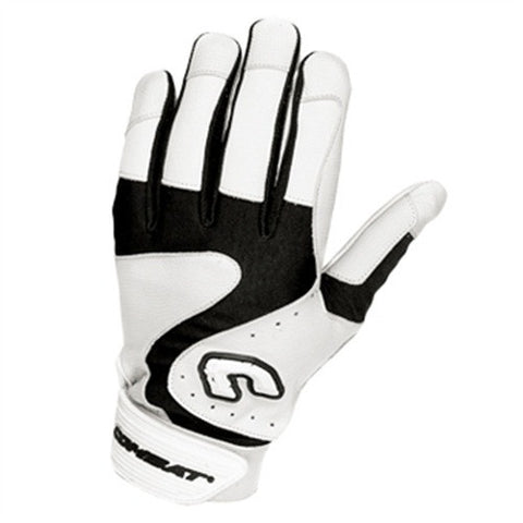 Combat Premium G3 Youth Baseball Softball Batting Gloves - White Black