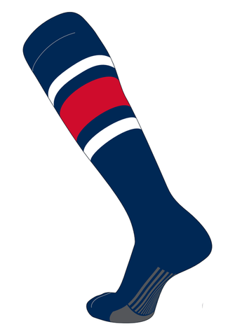 Twin City Stirrups Adult - Navy White Scarlet - Baseball Apparel, Softball Apparel - Hit A Double - 1