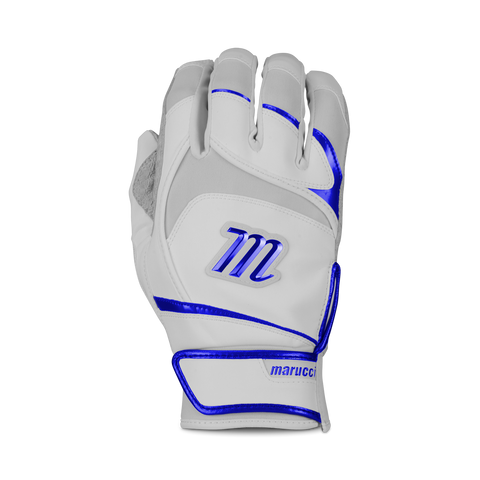 Marucci Signature Pittards Batting Glove - White Royal