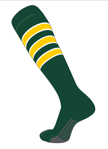 Twin City Stirrups Adult -Dark Green White Gold - Baseball Apparel, Softball Apparel - Hit A Double - 1