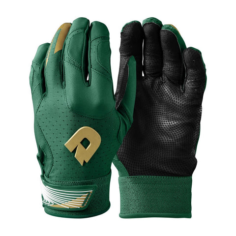 DeMarini CF Adult Batting Gloves - Dark Green