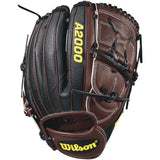"Wilson A2000 B212 SuperSkin 12.00"" Pitcher's Glove - Black Coffee"
