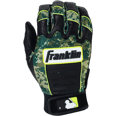 Franklin CFX Pro Adult Digi Batting Gloves - Black Green Camo