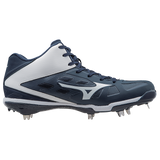 Mizuno Heist IQ Mid - Navy White - Baseball Footwear - Hit A Double - 2