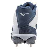 Mizuno Heist IQ Mid - Navy White - Baseball Footwear - Hit A Double - 3