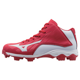 Mizuno 9-Spike Advanced Franchise 8 Mid - Red White