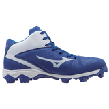 Mizuno 9-Spike Advanced Franchise 8 Mid - Royal White - Baseball Footwear - Hit A Double - 2