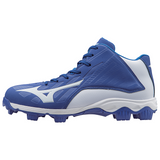 Mizuno 9-Spike Advanced Franchise 8 Mid - Royal White