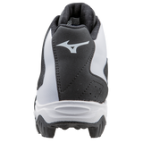 Mizuno 9-Spike Advanced Franchise 8 Mid - Black White - Baseball Footwear - Hit A Double - 3