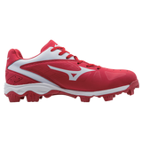 Mizuno 9-Spike Advanced Franchise 8 Low - Red White - Hit A Double  - 2