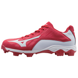 Mizuno 9-Spike Advanced Franchise 8 Low - Red White