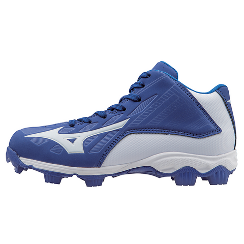 Mizuno 9-Spike Advanced Youth Franchise 8 Mid - Royal White