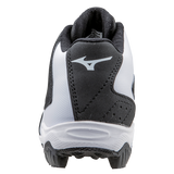 Mizuno 9-Spike Advanced Youth Franchise 8 Mid - Black White