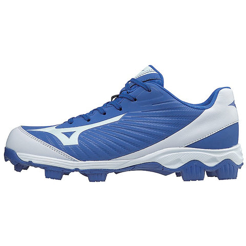 Mizuno Men's 9-Spike Advanced Franchise 9 Low Molded Cleats - Royal White