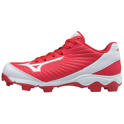 Mizuno Youth 9-Spike Advanced Franchise 9 Low Molded Cleats - Red White