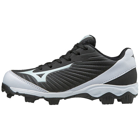 Mizuno Youth 9-Spike Advanced Franchise 9 Low Molded Cleats - Black White