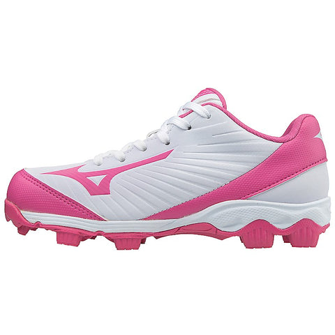 Mizuno Girl's 9-Spike Advanced Finch Franchise 7 FP Cleats - White Pink