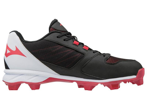 Mizuno 9-Spike Advanced Dominant TPU Low Cleats - Black Red