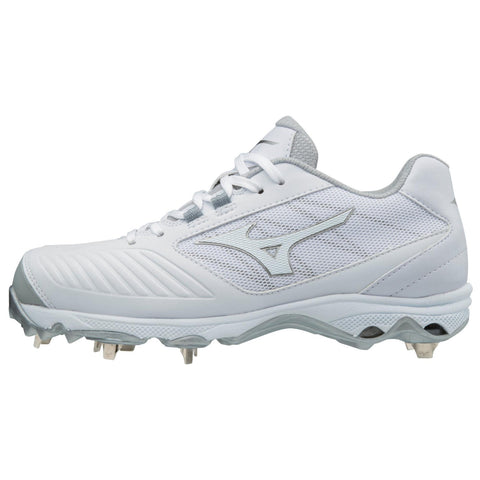 Mizuno 9-Spike Women's Advanced Sweep 4 Low Metal Cleats - White