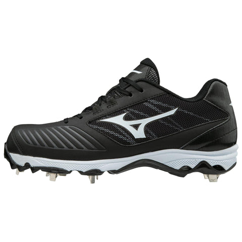 Mizuno 9-Spike Advanced Dominant TPU Low Cleats - Black White