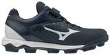 Mizuno Select Nine Low Molded Cleats - Navy White