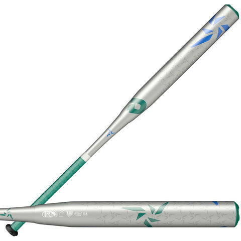 DeMarini Vendetta (-12oz) Fastpitch Bat WTDXVCF19 - Green Silver