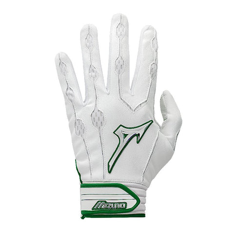 Mizuno Covert Youth Batting Gloves - White Forest