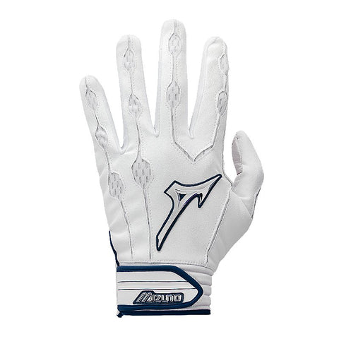 Mizuno Covert Youth Batting Gloves - White Navy