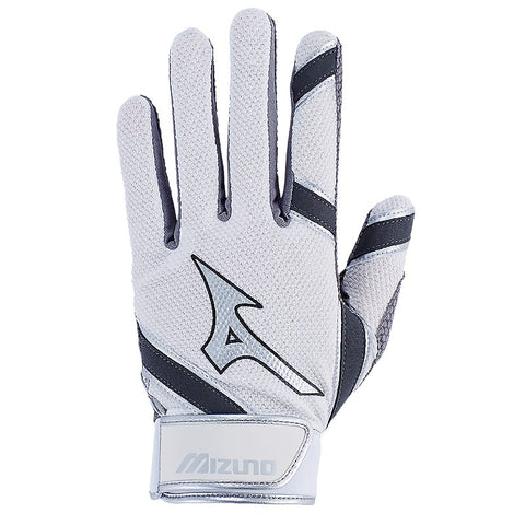 Mizuno Youth 2018 MVP Batting Gloves - White
