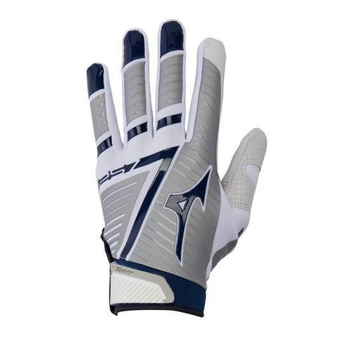 Mizuno F-257 Women's Softball Batting Gloves - White Navy
