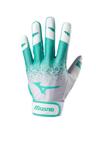 Mizuno Women's 2018 Finch Softball Batting Gloves - Mint White