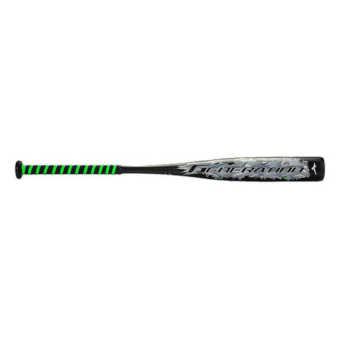 Mizuno 2016 Generation Senior League (-10) Bat - Black Neon Lime - Baseball Bats - Hit A Double