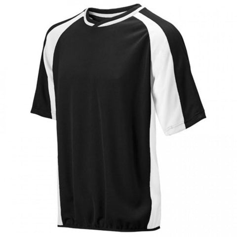 Mizuno 2 Color Mesh Short Sleeve Batting Jersey - Black-White