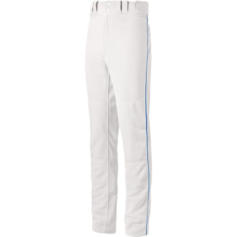 Mizuno Premier Pro Piped Adult Baseball Pants - White Royal