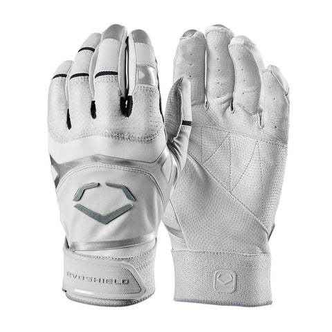 EvoShield Adult Evo XGT Batting Gloves - White - Batting Gloves - Hit A Double