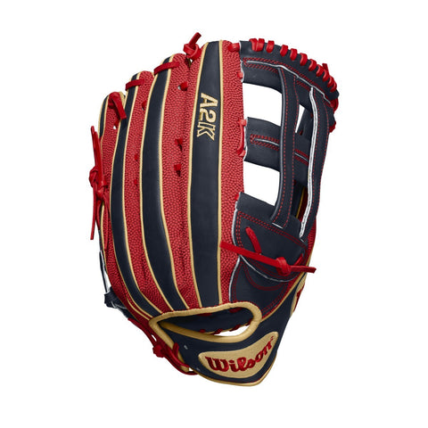 "Wilson 2020 A2K Betts Game Model 12.50"" Outf Glove WTA2KLB18MB50GM - Baseball Gloves - Hit A Double - 1"