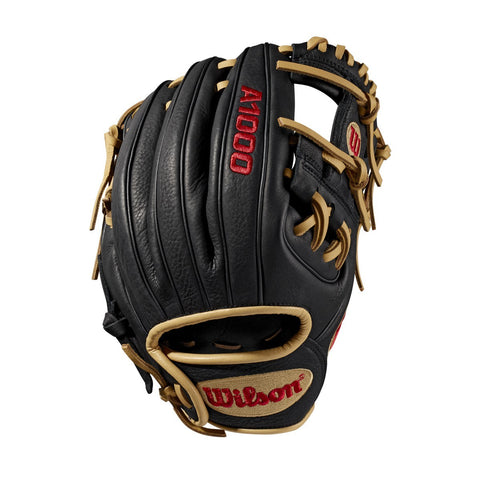 "Wilson 2019 A1000 Pedroia Fit 11.25"" Infield Gloves WTA10RB19PF88 - Black Cork - Hit A Double - 1"