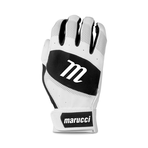 Marucci Badge Coach Pitch T-Ball Batting Glove - White Black
