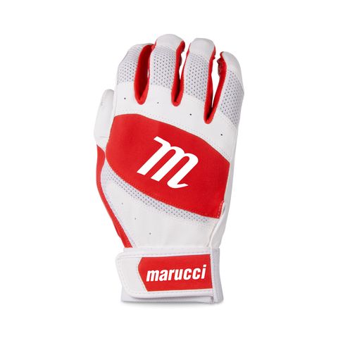 Marucci Badge Coach Pitch T-Ball Batting Glove - White Red