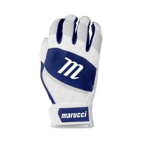 Marucci Badge Coach Pitch T-Ball Batting Glove - White Navy