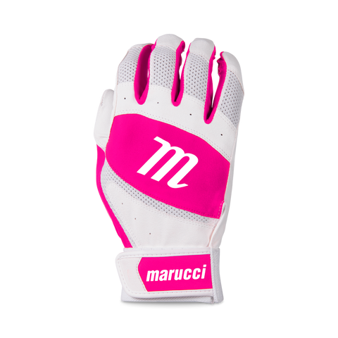 Marucci Badge Coach Pitch T-Ball Batting Glove - White Pink - HIT A Double